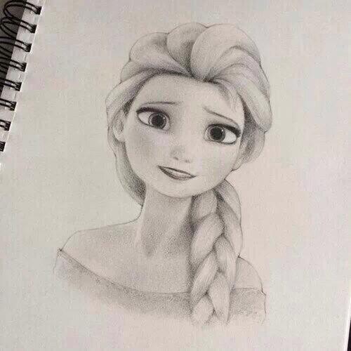 500x500 Beautiful Drawing Of Elsa. Drawing Art Beautiful