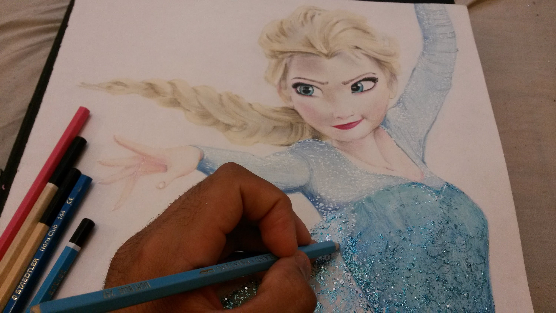 3000x1688 Disney Frozen Elsa Pencil Drawing