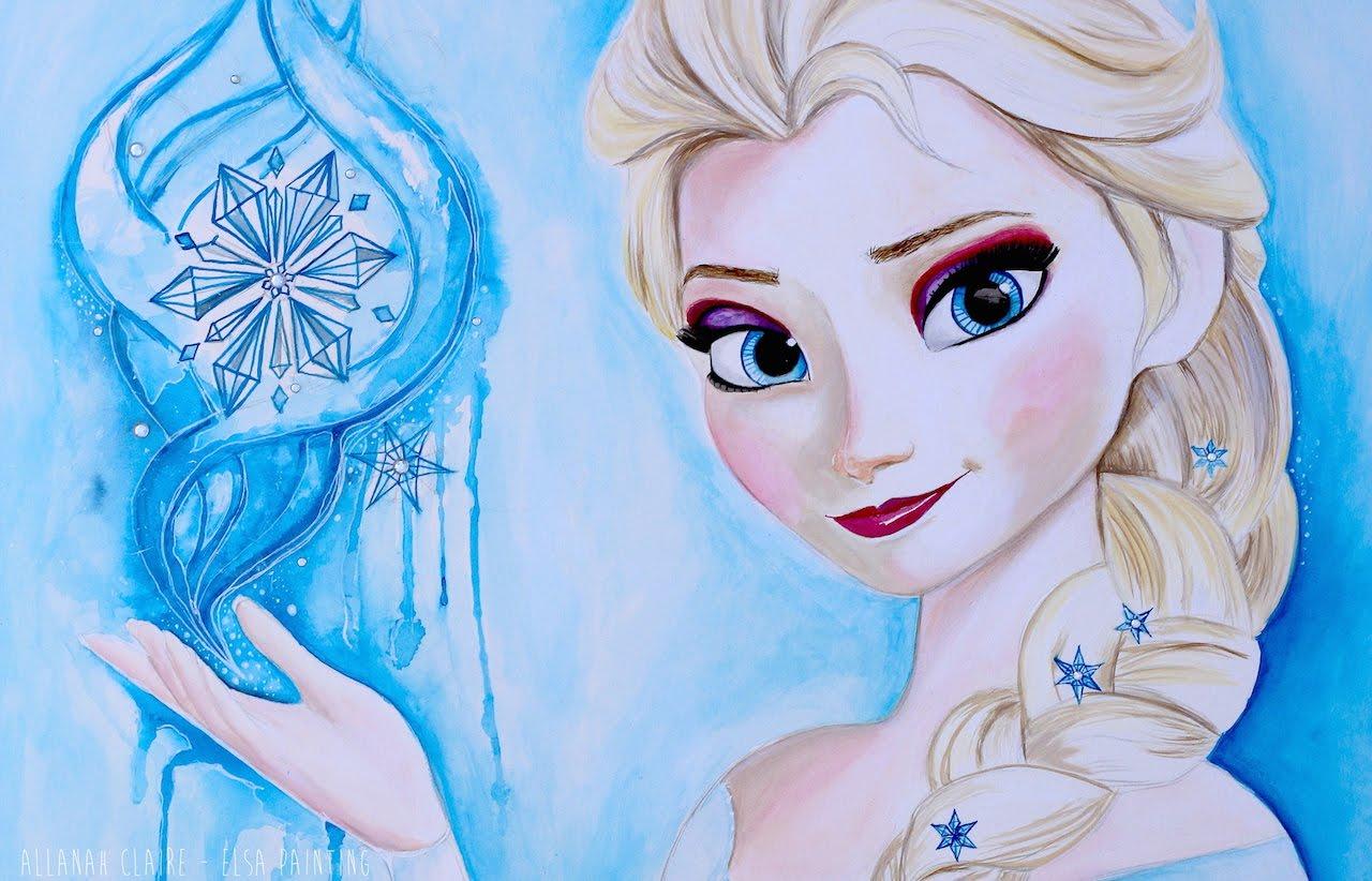 1280x822 Frozen Painting Elsa