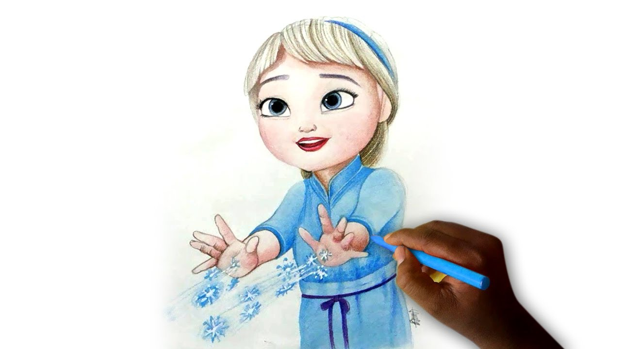 1280x720 How To Draw Elsa (Baby)