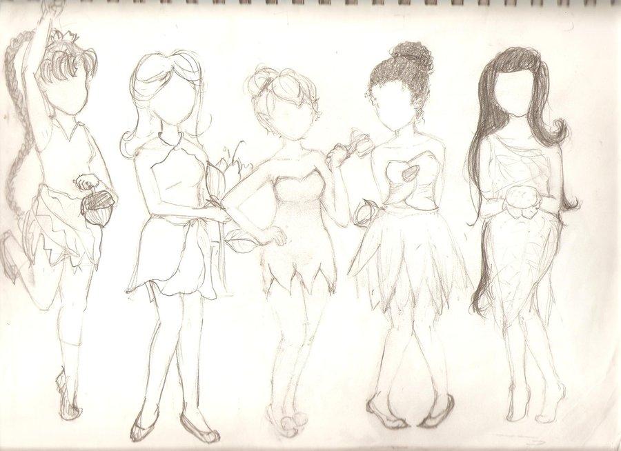 900x654 Disney Fairies Sketch By Charokame