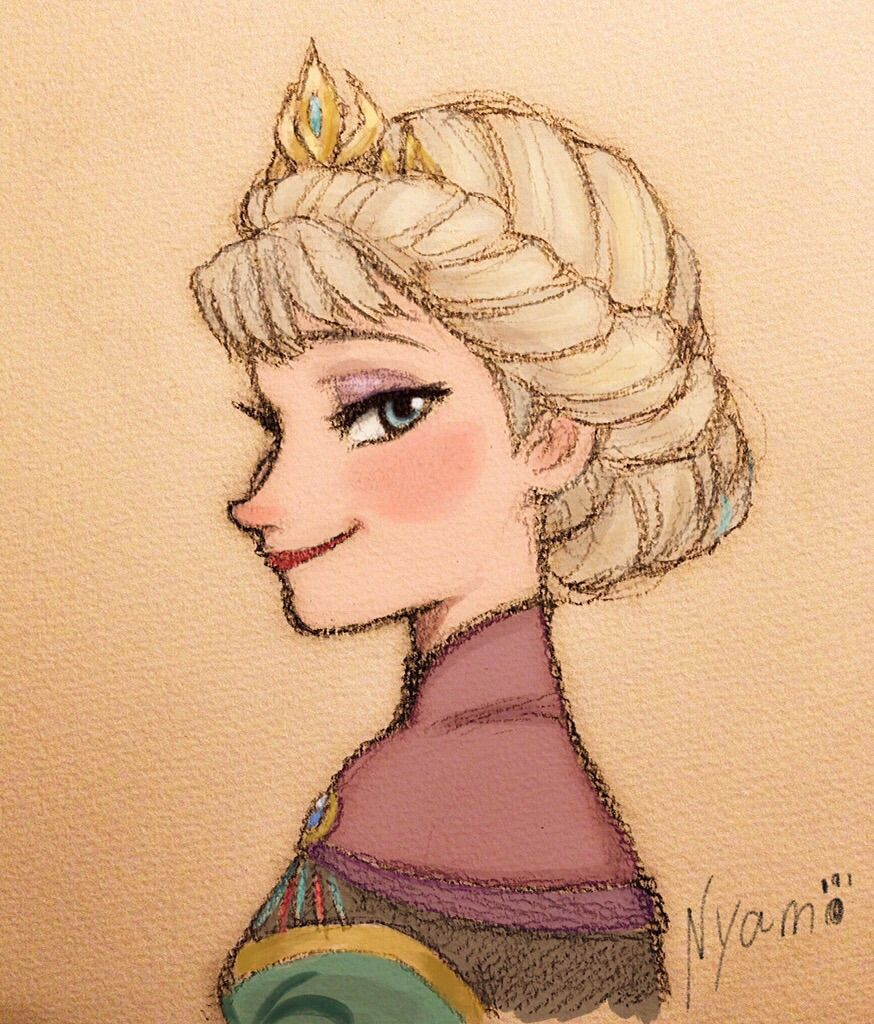 874x1024 A Very Nice Drawing Of Elsa Disney Elsa, Draw And Nice