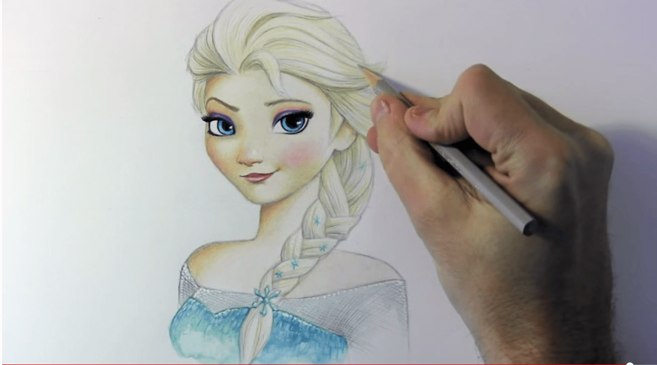 1284x714 How To Draw Elsa From Frozen