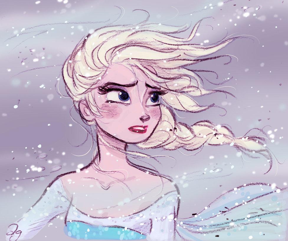 976x819 Disney's Frozen Elsa In The Blizzard By Princekido