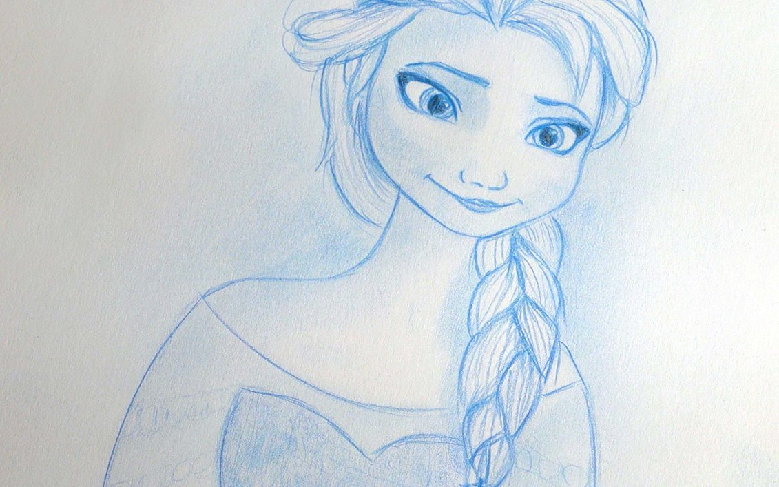 1131x707 Disney Frozen Elsa Pencil Etsy Drawing Close Up By