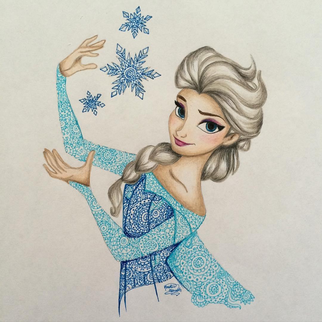 1080x1080 Elsa (Drawing By Kristina Illustrations @instagram)
