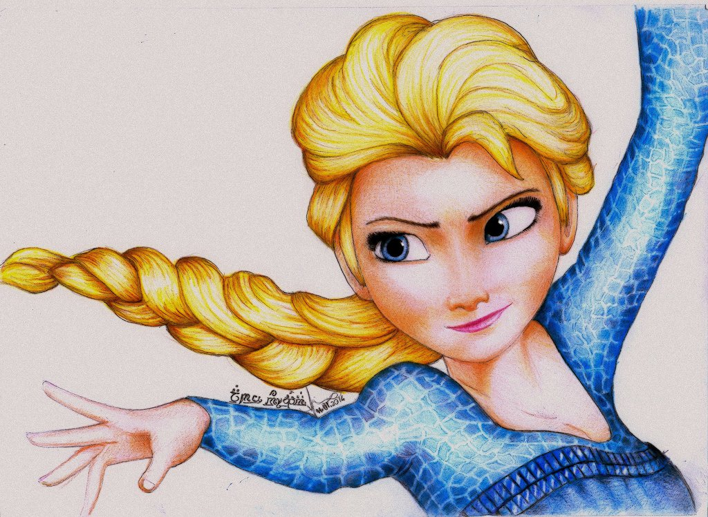 1024x749 Princess Elsa From Frozen By Amandabloom