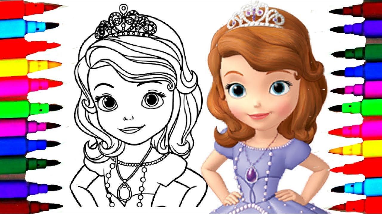 1280x720 How To Draw Sofia The First Coloring Pages L Disney Junior Drawing