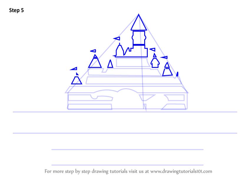 846x600 Learn How To Draw Walt Disney Logo (Brand Logos) Step By Step