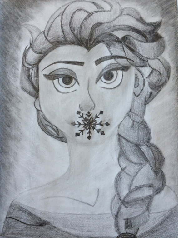570x762 items similar to custom pencil drawing disney characters on etsy