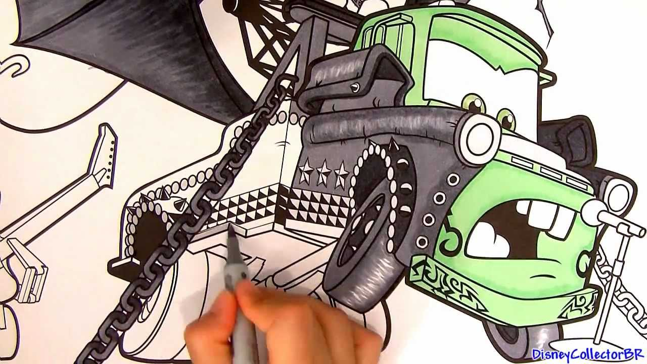 1280x720 Heavy Metal Mater Drawing From Cars Toon Disney Pixar Paint