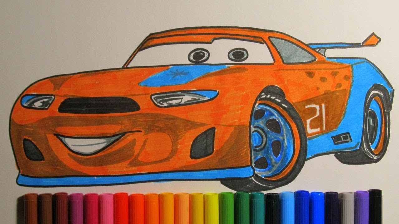1280x720 How To Draw Ryan Inside Laney From Disney Pixar Cars 3 2017
