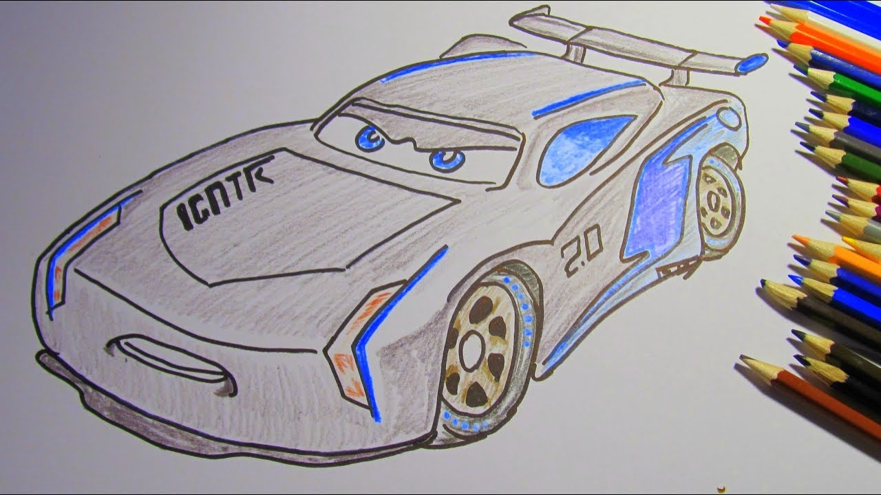 1280x720 How To Draw And Color Jackson Storm Disney Pixar Cars 3 2017