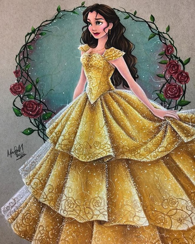 635x792 Belle Drawing By @maxxstephen