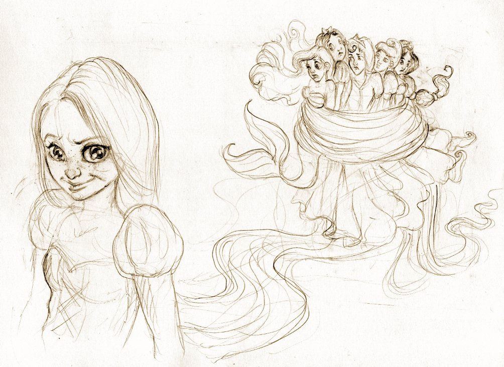1004x732 Disney's Princesses Scrap By Kamarza