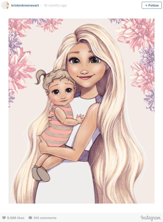 652x888 Disney Princesses As New Moms Popsugar Moms