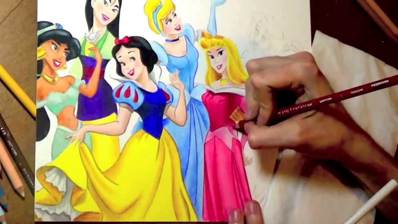 1280x720 Drawing Disney Princesses