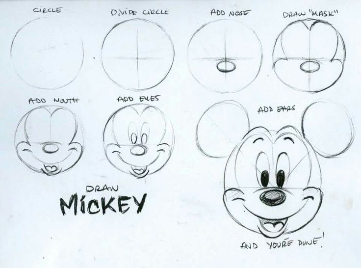 736x546 Draw Mickey Artsy Stuff Pinterest Mouse And