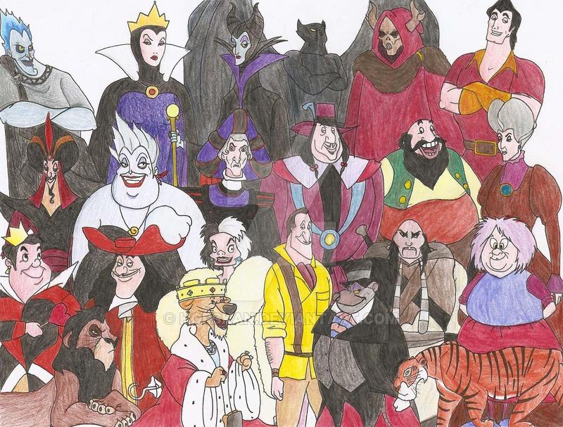 Disney Villains Drawing At Getdrawings Free Download