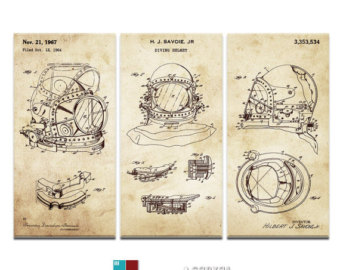 Diving helmet drawing at getdrawings free for personal use 340x270 diving helmet art etsy malvernweather Image collections