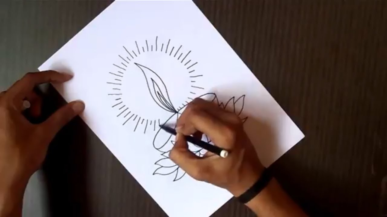 1280x720 How To Draw Diya For Diwali Drawing Diya Diwali Diya Diwali