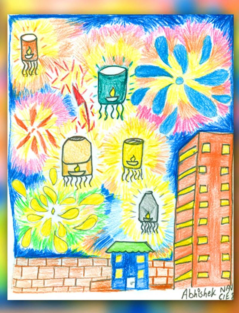 800x1044 Diwali Drawing Painting Diwali Paintings, Scene, Drawing Pictures