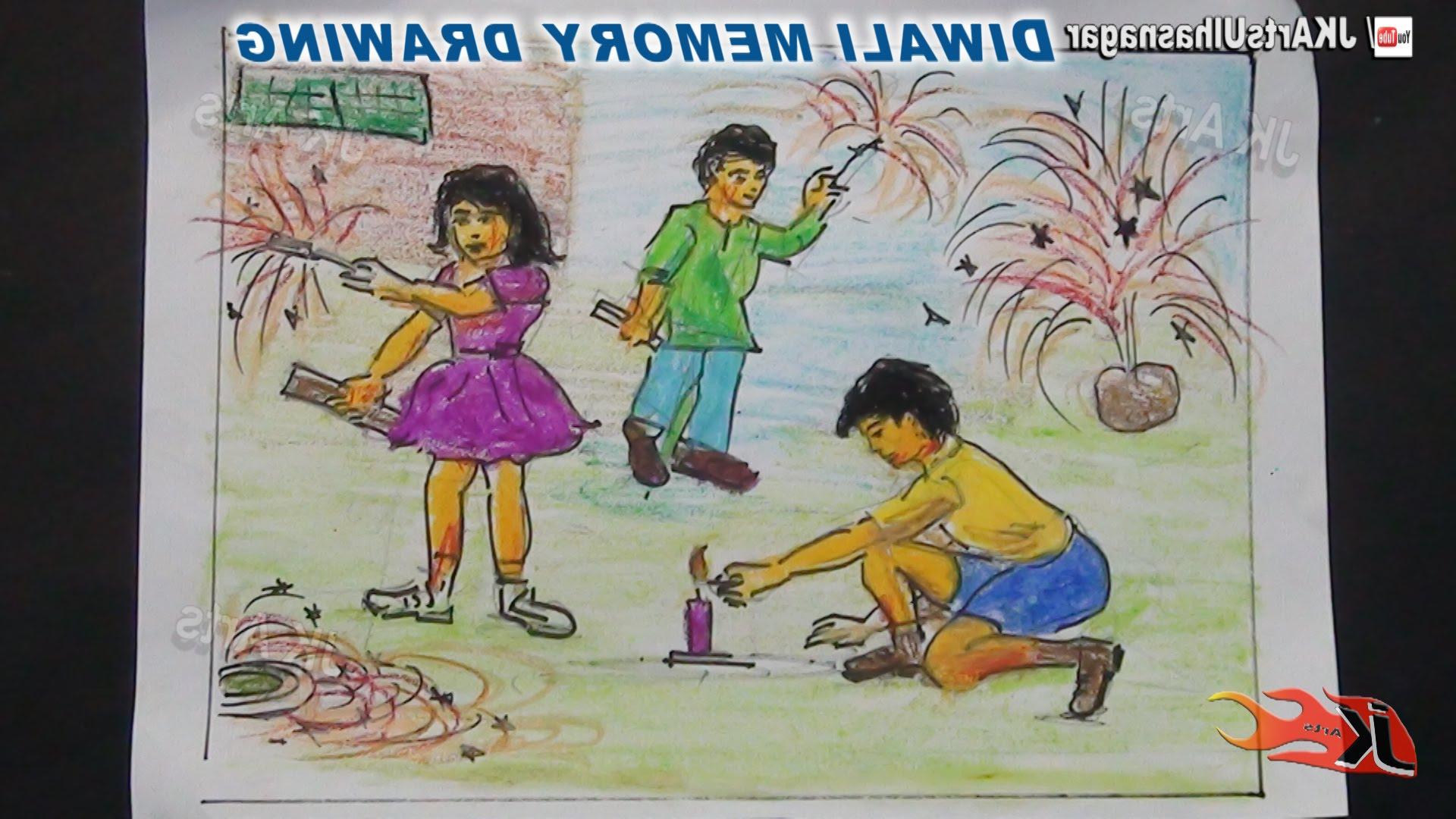 1920x1080 Diwali Festival Paintings For Children Happy Diwali Memory Drawing