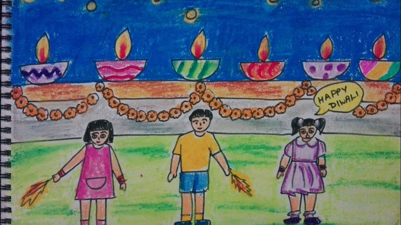 1280x720 How To Draw Easy Diwali Drawing For Kids