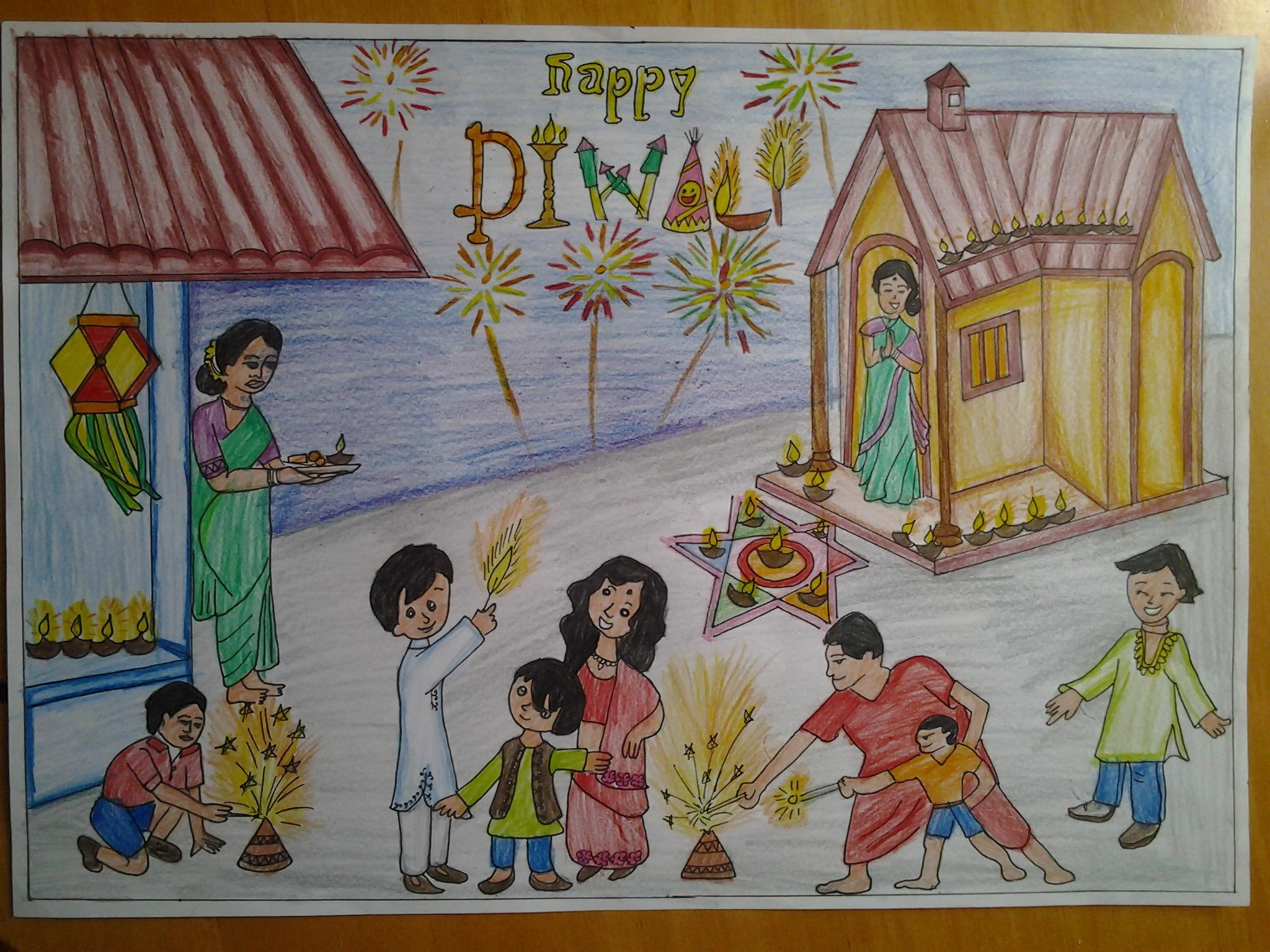 Diwali Drawing At Getdrawings Com Free For Personal Use Diwali