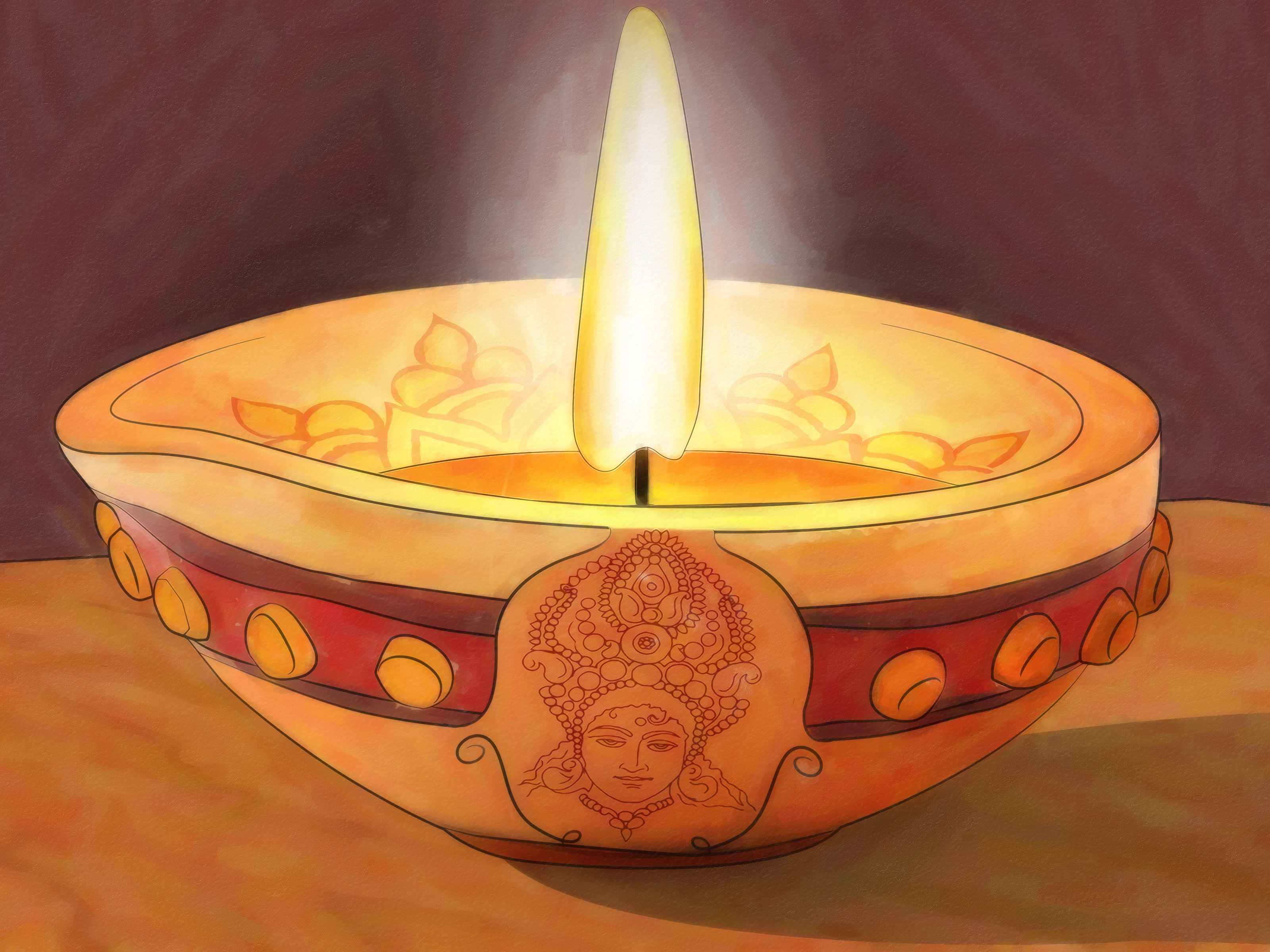 image titled decorate. 3200x2400 3 Ways To Decorate A Diya Image Titled