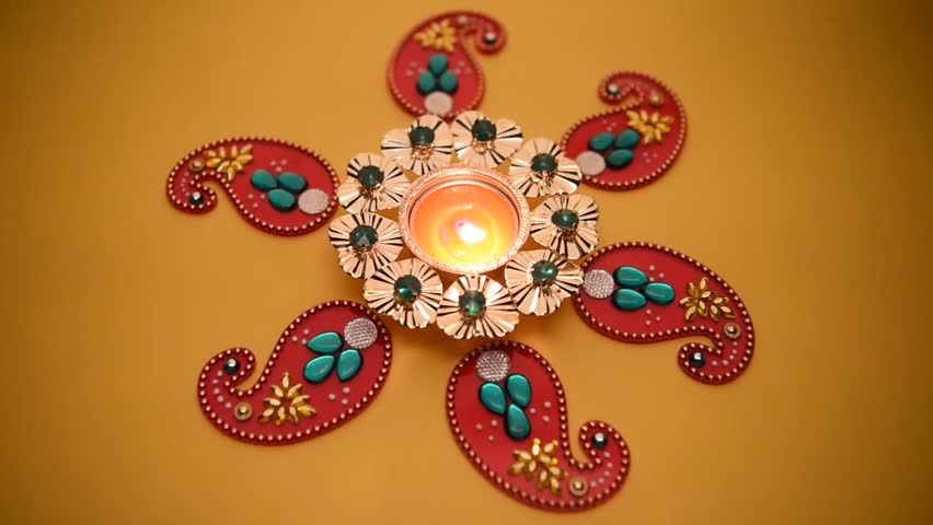 852x480 Decorative Drawings Called Rangoli Designs Around Diwali Lamp