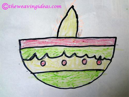 500x375 Diwali Art Teaching Kids To Draw Diya