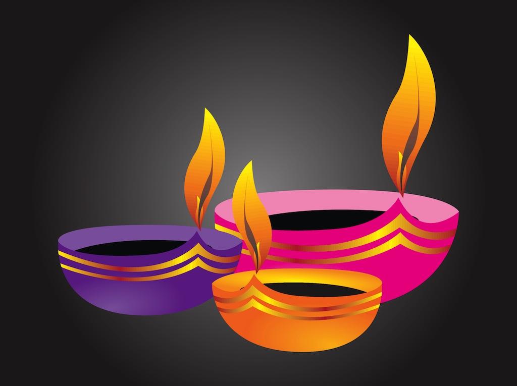 1024x765 Diwali Lamps Vector Art Amp Graphics