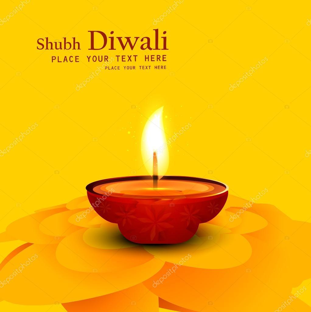 1022x1024 Diwali Oil Lamp Drawing