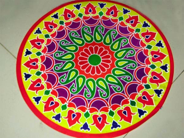 600x450 Happy Diwali Rangoli, Best Rangoli Ideas For Deepavali 2018