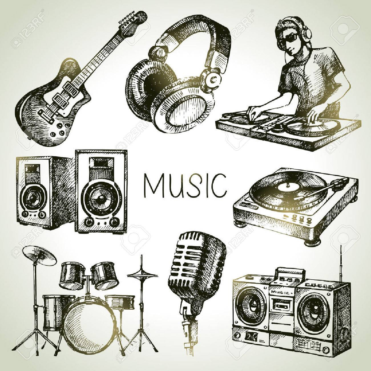 1300x1300 78,258 Headphones Cliparts, Stock Vector And Royalty Free