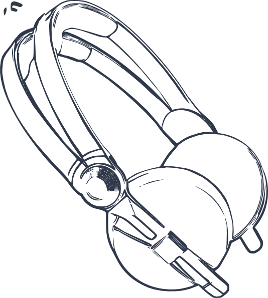 534x595 Headphones Clip Art