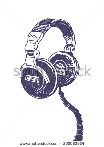 332x470 Headphones Drawing Isolated On White Background Infantil
