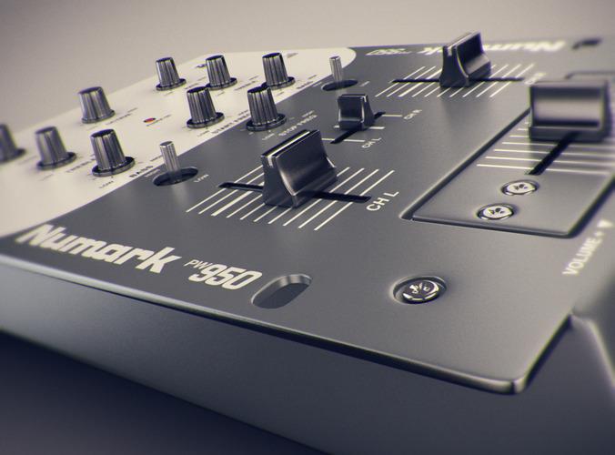 676x500 3d Dj Mixer Cgtrader