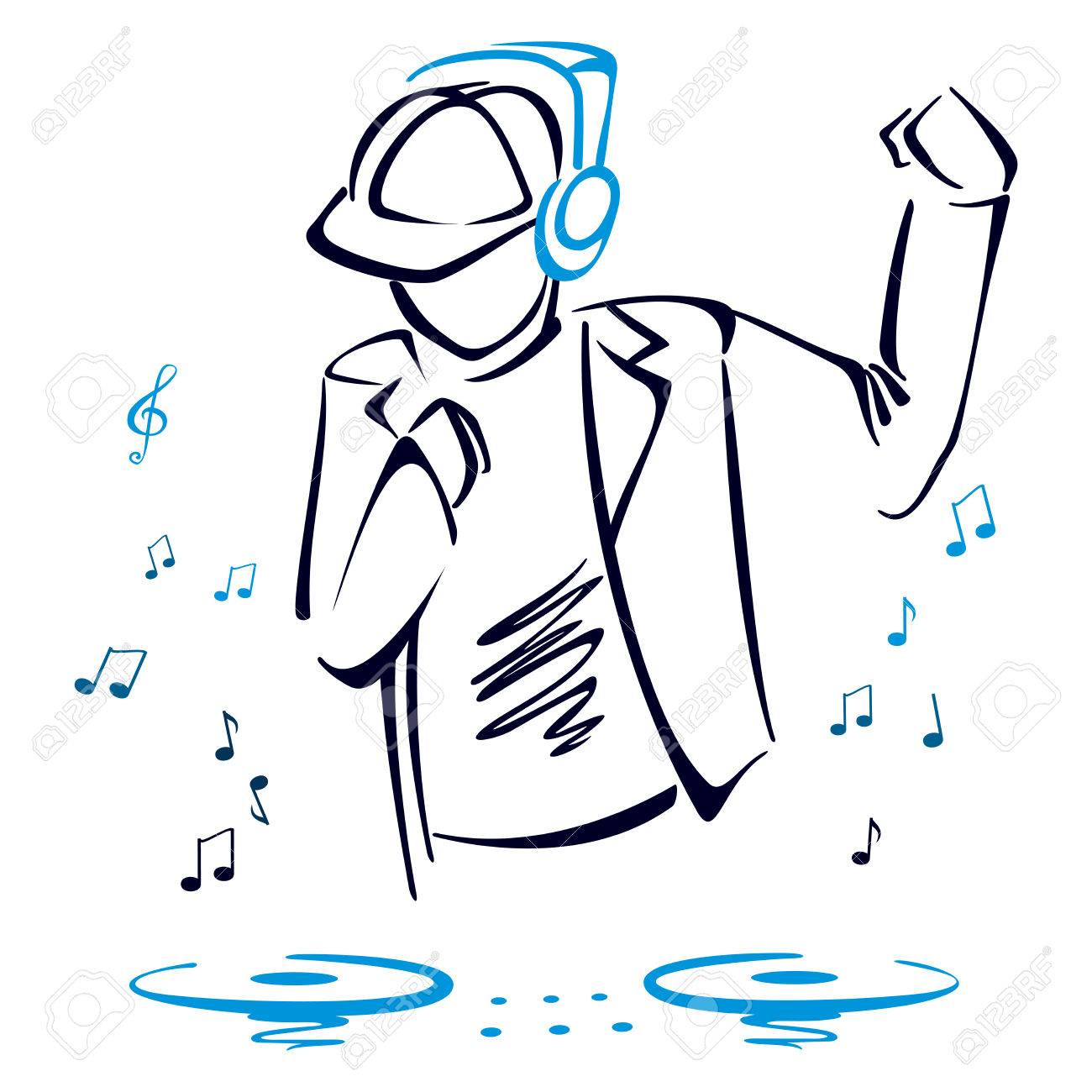 1300x1300 Dj Mixing Music Royalty Free Cliparts, Vectors, And Stock