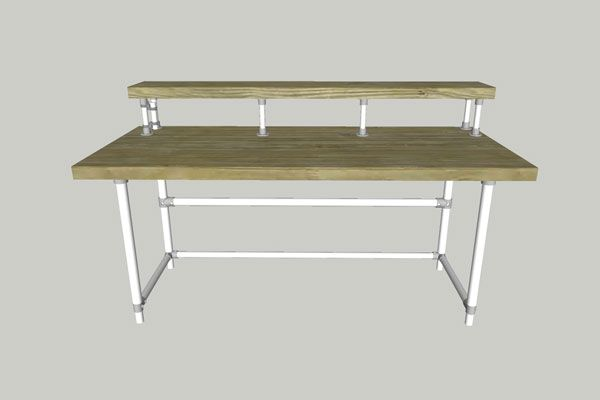600x400 Sketchup Drawing Pipe Tables Drawings, Desks