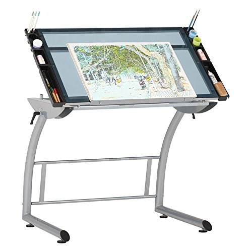 500x500 Studio Designs 10088 Triflex Drawing, Sit Stand Up Adj Desk