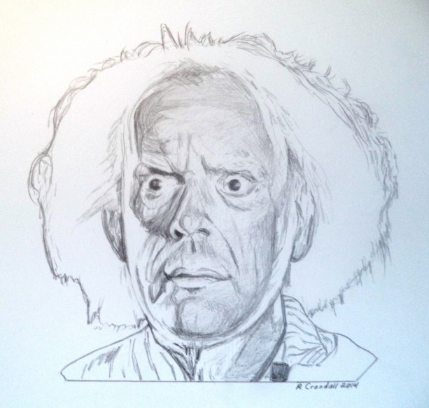 613x582 Back To The Future Doc Brown Drawing Aftcra