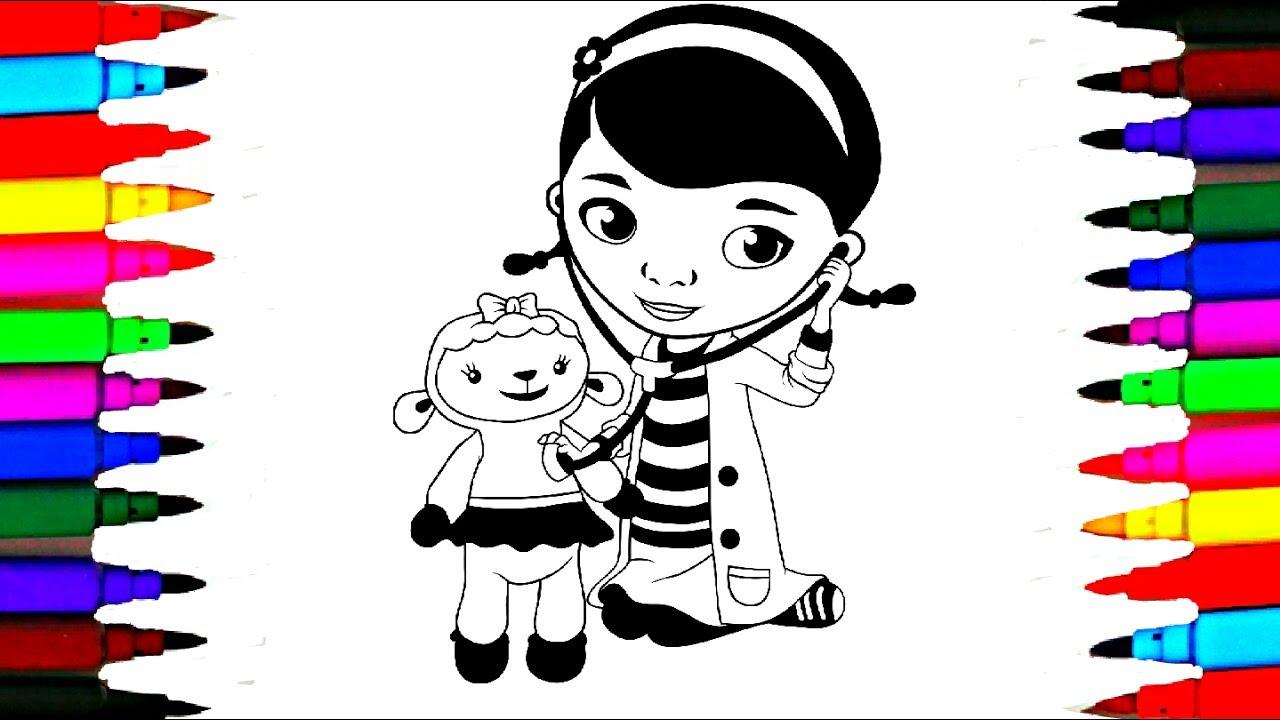 1280x720 Doc Mcstuffins And Lambie Coloring Pages L Disney Junior Coloring