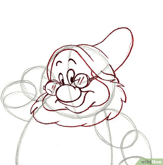 552x559 How To Draw Doc From The Seven Dwarfs 7 Steps (With Pictures)