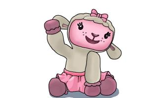 300x200 How To Draw Lambie From Doc Mcstuffins