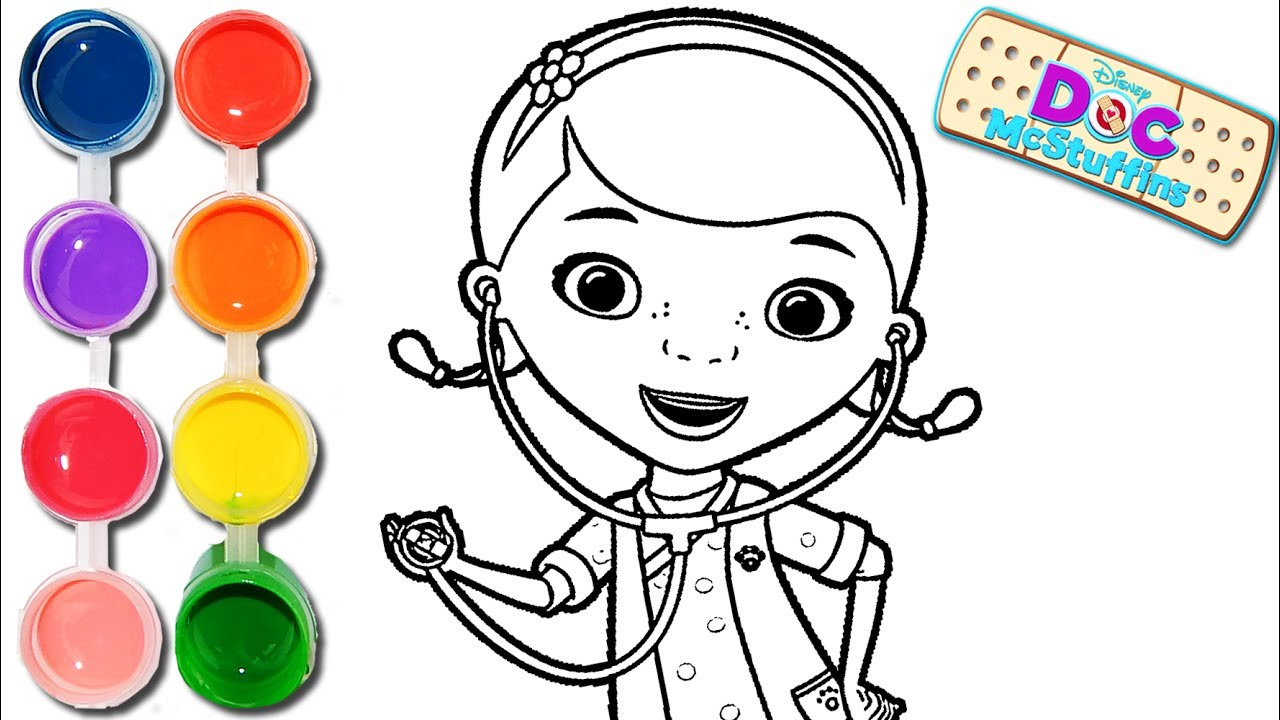 1280x720 How To Draw Amp Color A Doc Mcstuffins Drawing On Amp New Learning 4