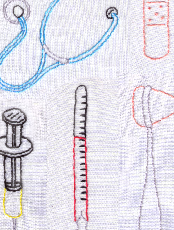 570x752 Medical Hand Embroidery Pattern Medical Tools Pdf Doctor