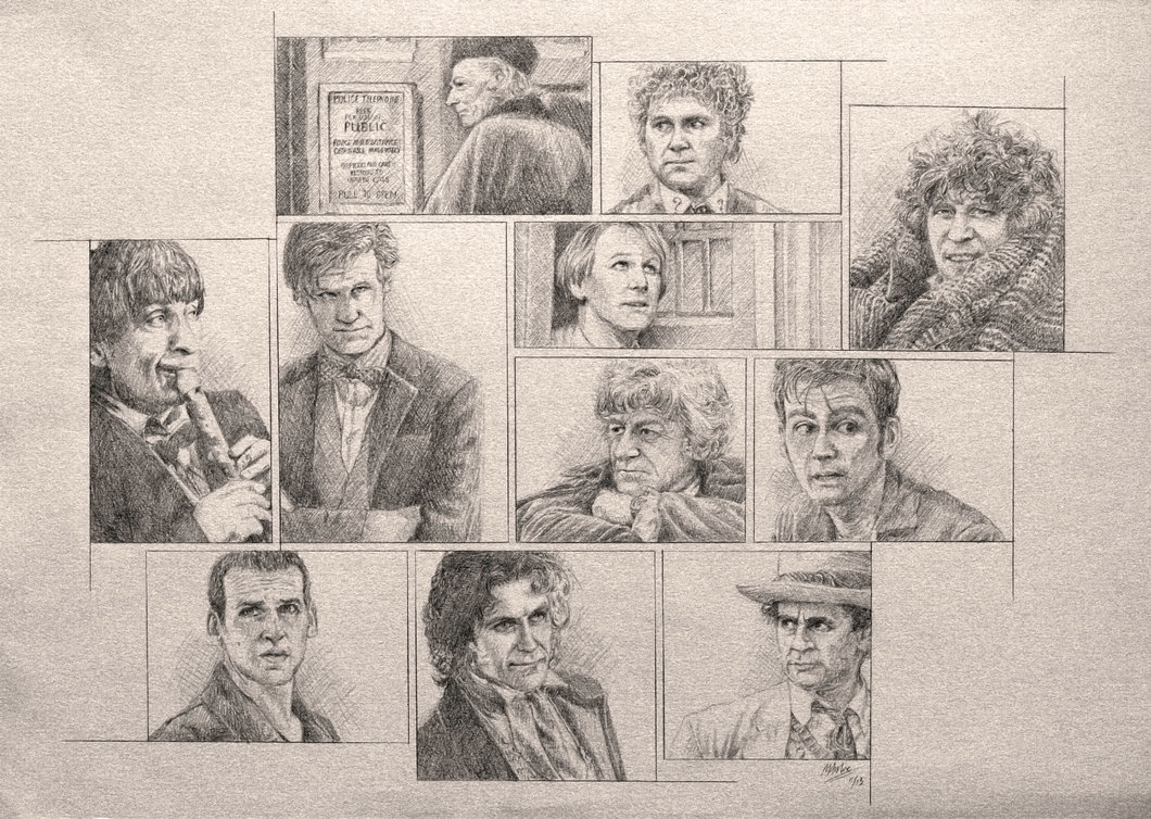 1060x754 Drawing Doctor Who Project Doctors By Atarial