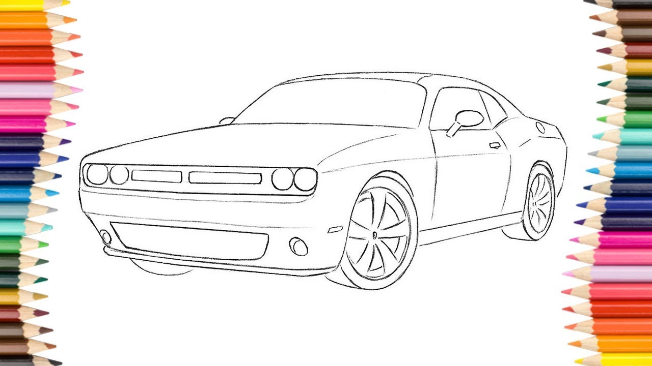 1280x720 How To Draw A Dodge Challenger
